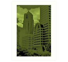 Green Seattle Art Print