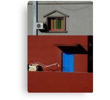 Primary Colors on Rooftop Canvas Print