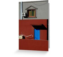 Primary Colors on Rooftop Greeting Card