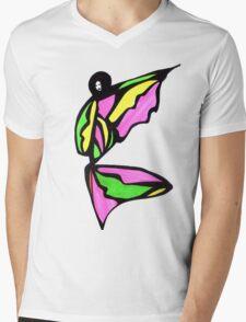 Bubble Gum Girl Mens V-Neck T-Shirt