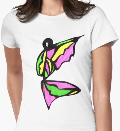 Bubble Gum Girl Womens Fitted T-Shirt
