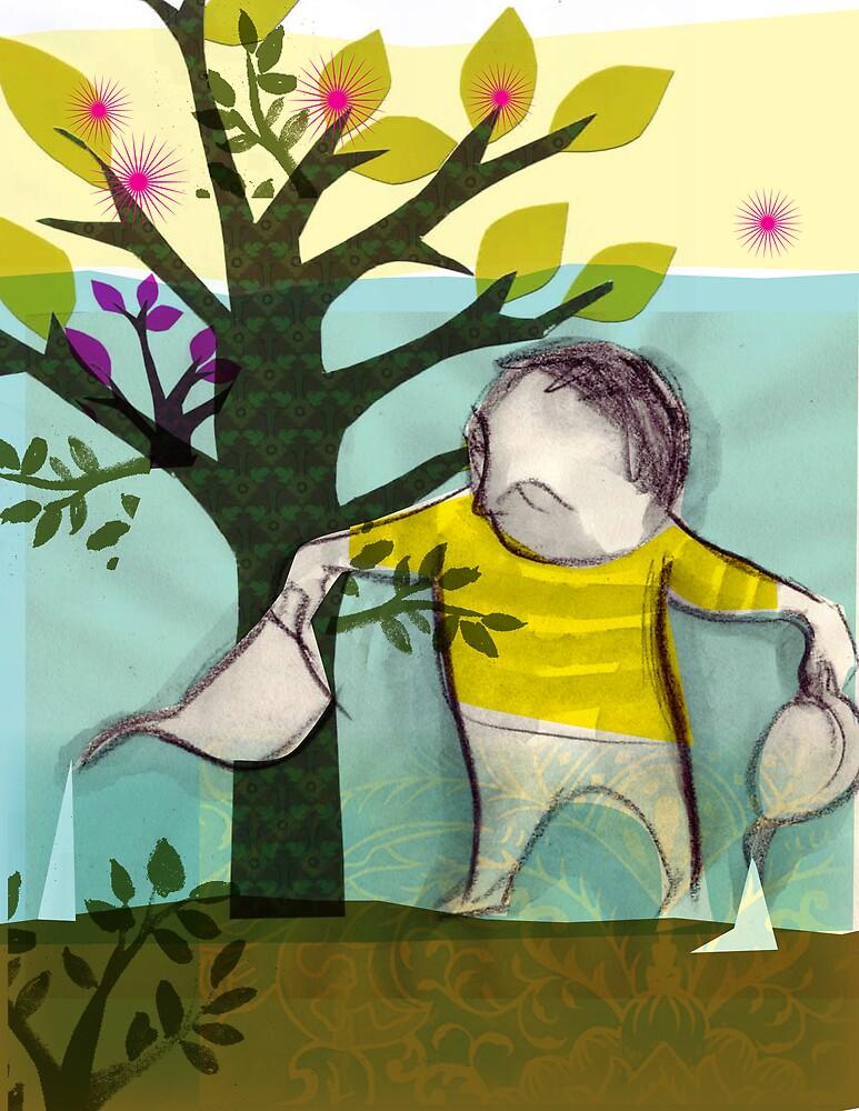 garden boy:watering charlie by cmariani
