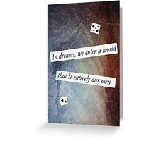 In Dreams - Harry Potter Dumbledore Quote Greeting Card