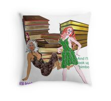 archetypal male fantasy bimbo-stereotype  Throw Pillow