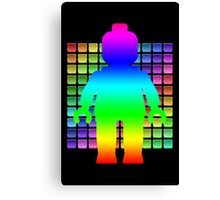 Large Rainbow Minifig in Front of Buttons Canvas Print