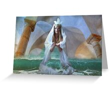 ...the Goddess and Birth of a Temple in the Sea... Greeting Card