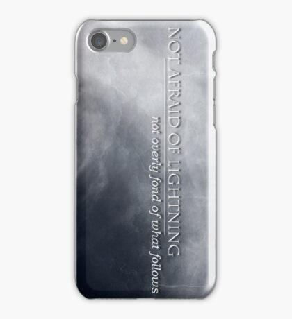 Not Afraid Of Lightning - Loki iPhone Case/Skin