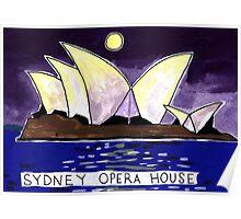 Sydney Opera House Night Poster