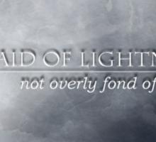 Not Afraid Of Lightning - Loki Sticker