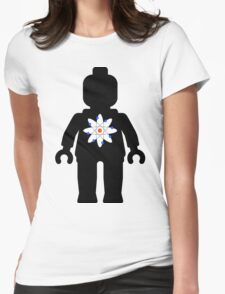 Minifig with Atom Symbol Womens Fitted T-Shirt