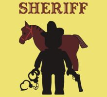 """SHERIFF"", Customize My Minifig Kids Tee"