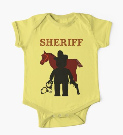 """SHERIFF"", Customize My Minifig One Piece - Short Sleeve"