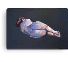 2007 Gouache Life Drawing Nude Female Study Canvas Print