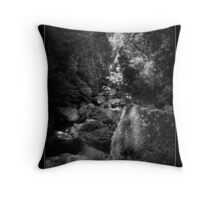 HDR in the trees Throw Pillow