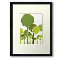Green Palette Framed Print