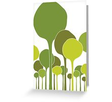 Green Palette Greeting Card