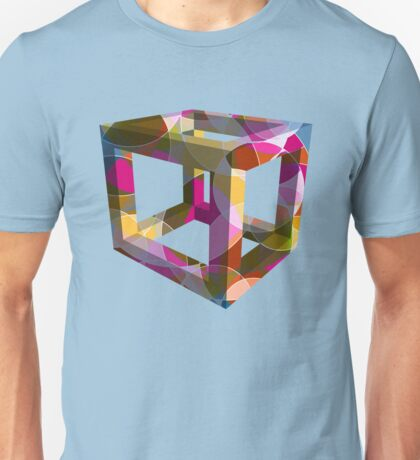 Magenta Abstract Unisex T-Shirt