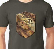 Custom Dredd Badge - Judge Oz Unisex T-Shirt