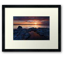 PotHoles Sunset Framed Print