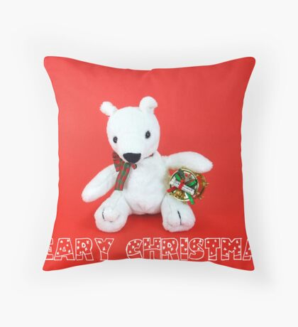 Beary Christmas The First Throw Pillow