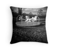 spinning will make you fall Throw Pillow