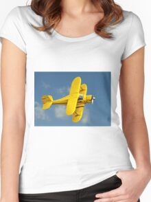"""Beechcraft D.17S """"Staggerwing"""" N9405H Women's Fitted Scoop T-Shirt"""