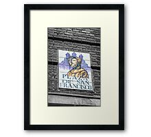San Francisco street name Framed Print