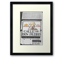 Don Pedro Street, Madrid Framed Print