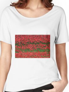 Poppies at the Tower Women's Relaxed Fit T-Shirt