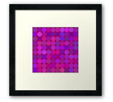 Funny lilac circles Framed Print