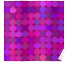 Funny lilac circles Poster