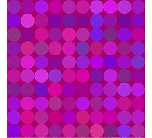 Funny lilac circles Photographic Print