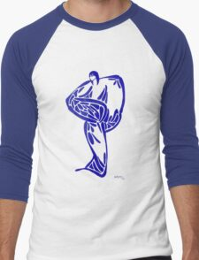 Arctic Blue Men's Baseball ¾ T-Shirt