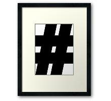 hashtag,internet,modern,#,nerd,geek,web Framed Print