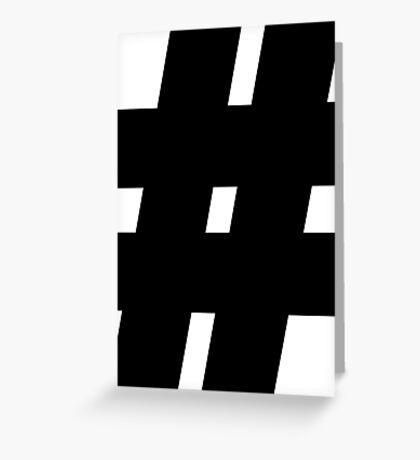 hashtag,internet,modern,#,nerd,geek,web Greeting Card