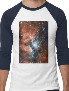 Red Galaxy 2.0 Men's Baseball ¾ T-Shirt