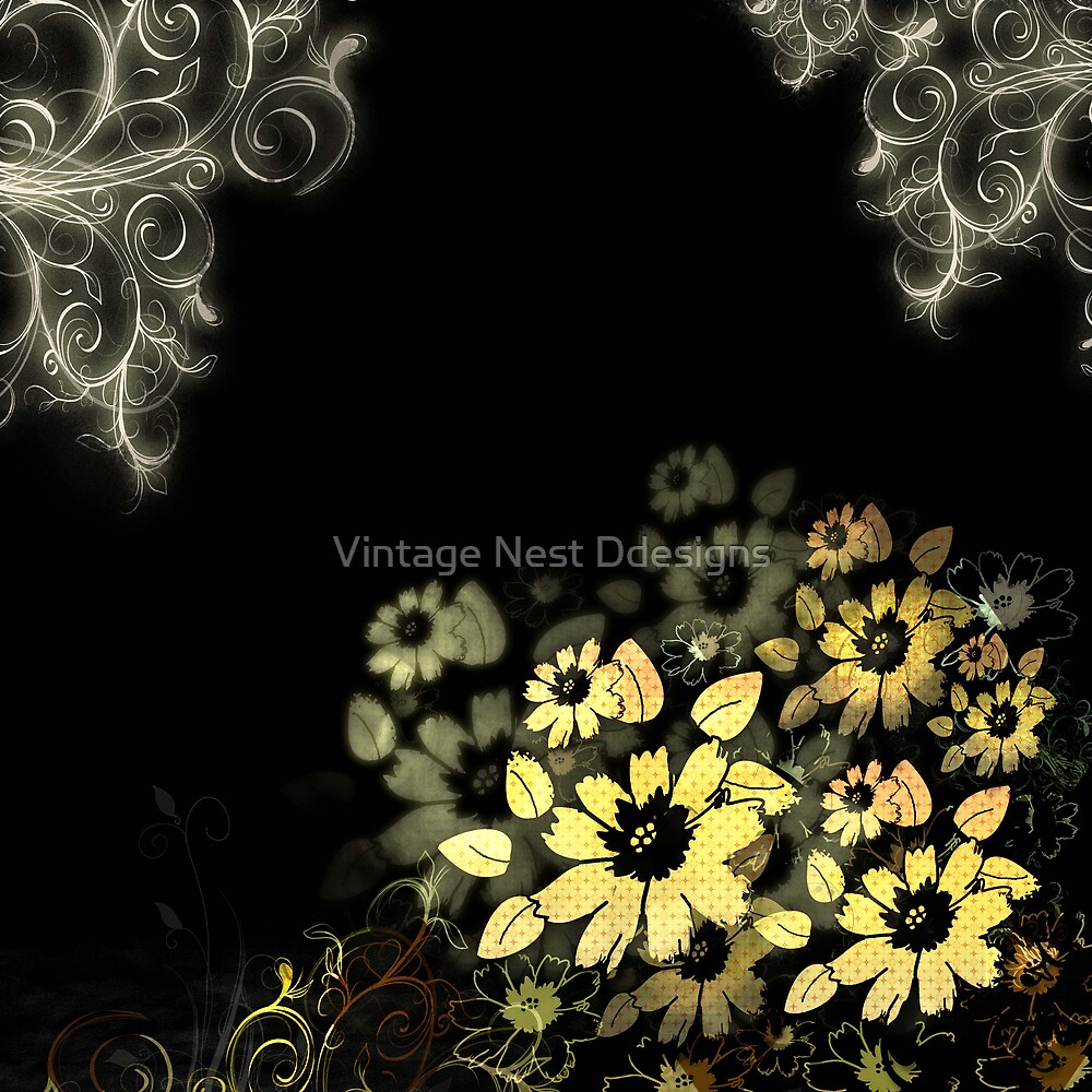 Flowers to Intoxicate Me by Vintage Nest  Designs