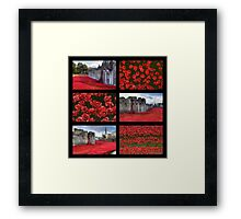 Poppies at the Tower collage Framed Print