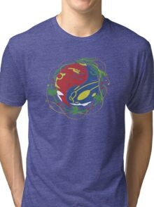 Mega Rayquaza Pokemon Tri-blend T-Shirt