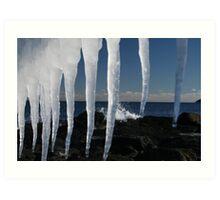 frozen ocean Art Print