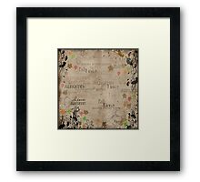 Autumn Leaves Page Framed Print
