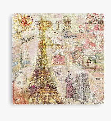 Paris Nights Paper 1 Canvas Print