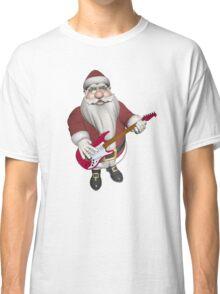 Santa Claus Playing Guitar Classic T-Shirt