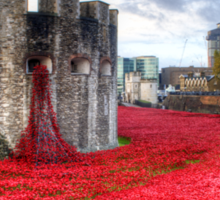 Poppies at the Tower Sticker