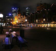 Reflections on a bench by Sara Lamond