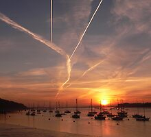 Morning Contrails (2) by brummieboy