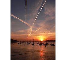 Morning Contrails (2) Photographic Print