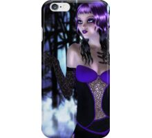 Girl in forest at night iPhone Case/Skin