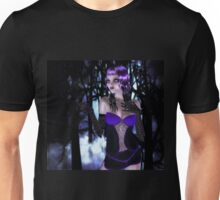 Girl in forest at night Unisex T-Shirt