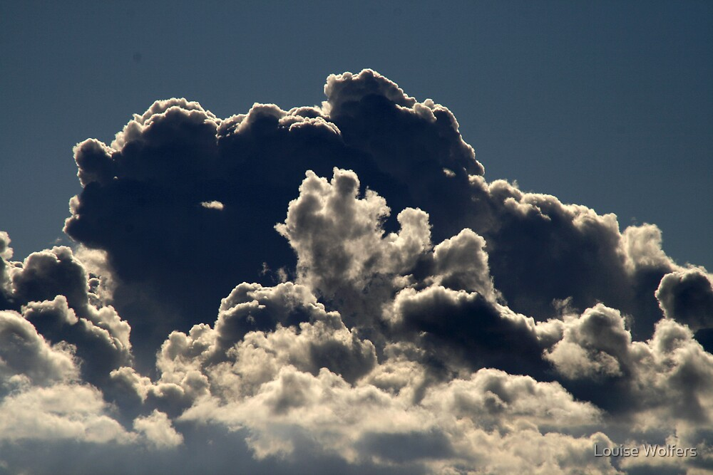 Clouds at Brighton Beach by Louise Wolfers